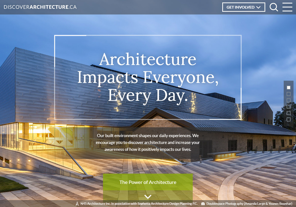 Discover architecture - Toronto WordPress development and web design